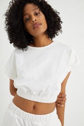 Curly Kadın Kemik Kısa Sweatshırt 4