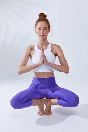 VAYU Beyaz Hera Halter Yaka Tül Detaylı Yoga & Pilates Sporcu Sütyeni 3