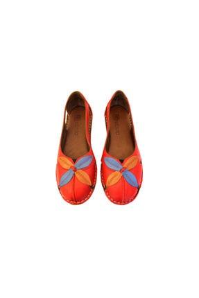 Beta Shoes Kadın Kırmızı Deri Ayakkabı 4