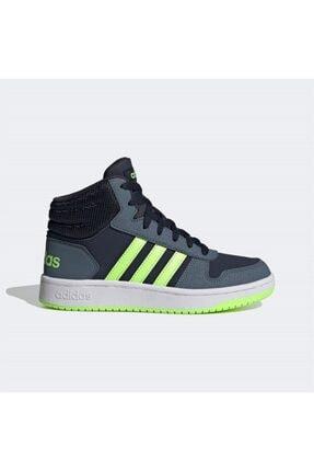 adidas Erkek Siyah Yeşil Şerit Detaylı Bağcıklı Basketbol Ayakkabısı 0