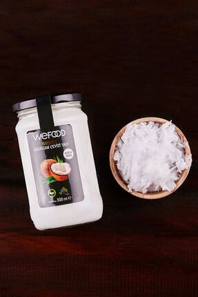 Wefood Organik Sertifikalı Soğuk Sıkım Hindistan Cevizi Yağı 300 ml 1