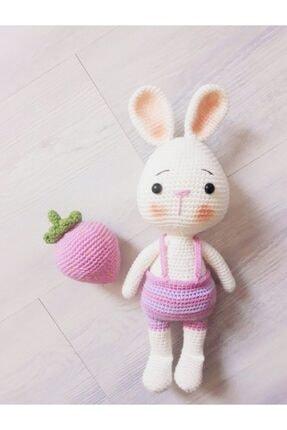 OYUNCAKPARK Tavşan Sunny Ve Çileği Amigurumi Organik Oyuncak 0