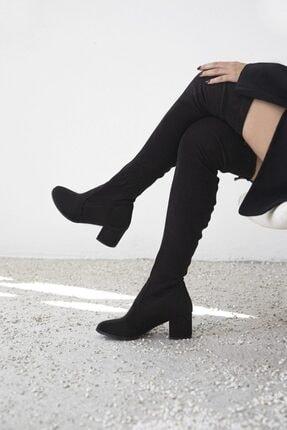 Straswans Kadın Siyah Streç Çorap Çizme 1