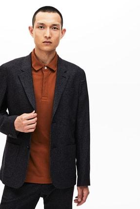 Lacoste Erkek Siyah Ekoseli Slim Fit Uzun Kollu Blazer Ceket 0