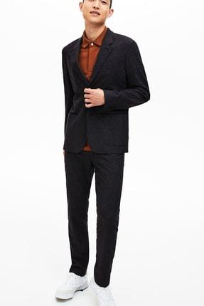 Lacoste Erkek Siyah Ekoseli Slim Fit Uzun Kollu Blazer Ceket 3