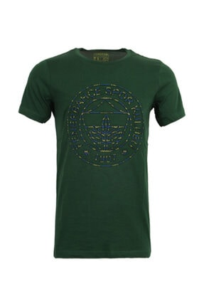 Fenerbahçe Erkek Yeşil Logo Baskılı T-Shirt 0
