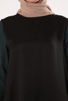 Ekrumoda Kadın Siyah Kolu Tüllü Tunik 3