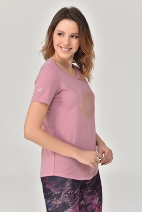 bilcee Pembe Büyük Beden Kadın T-Shirt GS-8131 4