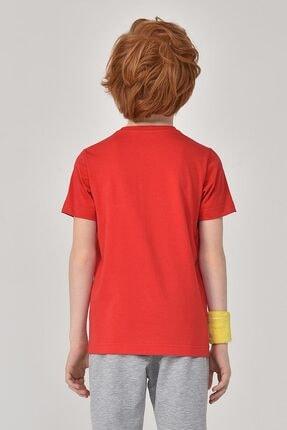 bilcee Unisex Çocuk Kırmızı T-Shirt GS-8145 4