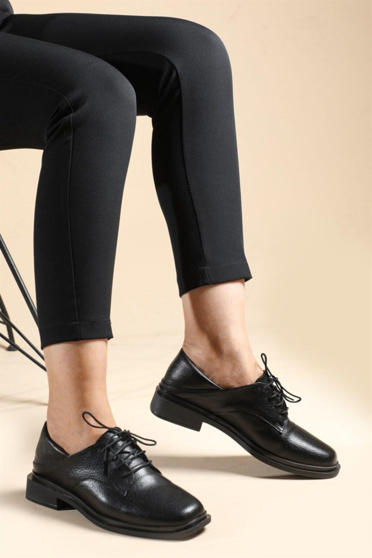 CARLA BELLA Kadın Siyah Klasik Ayakkabı Us-052