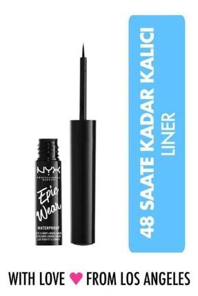 NYX Professional Makeup Black Epıc Wear Lıquıd Lıner 01 0