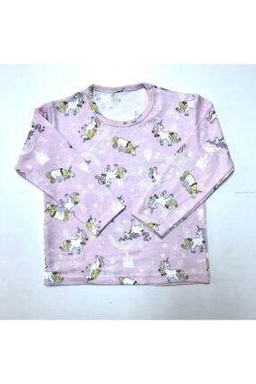 BUBİ GİYİM Kız Çocuk Pembe Unıcorn Pijama Takımı 1