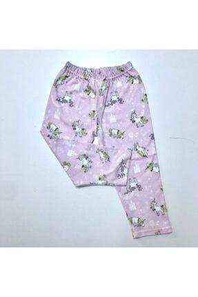BUBİ GİYİM Kız Çocuk Pembe Unıcorn Pijama Takımı 4