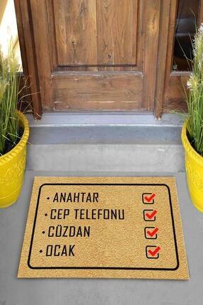Evsebu Hatırlatmalı Dekoratif Kapı Önü Paspası 3