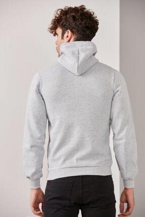 CATSPY Erkek Gri Kapüşonlu Sweatshirt 4
