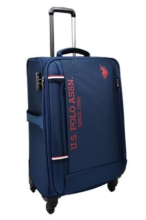 US Polo Assn Unisex Lacivert  Valiz Orta Boy Kumaş Valiz 1