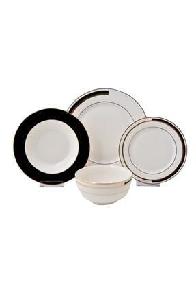 Beyaz Vıola Bone Serısı Yemek Takımı 24 Parca LYEG 073