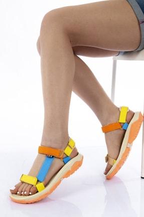 GNY AYAKKABI Kadın Karışık Renkli Spor Sandalet 0