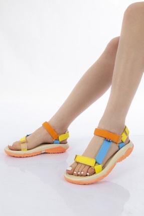 GNY AYAKKABI Kadın Karışık Renkli Spor Sandalet 1