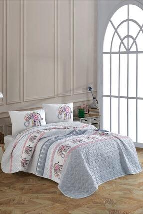 Cotton Touch Beyaz Gloria Çift Kişilik Kapitone Yatak Örtüsü Takımı 0