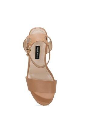Nine West OBASA 1FX Taba Kadın Dolgu Topuklu Sandalet 101008608 1