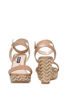 Nine West OBASA 1FX Taba Kadın Dolgu Topuklu Sandalet 101008608 2