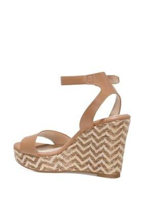 Nine West OBASA 1FX Taba Kadın Dolgu Topuklu Sandalet 101008608 4