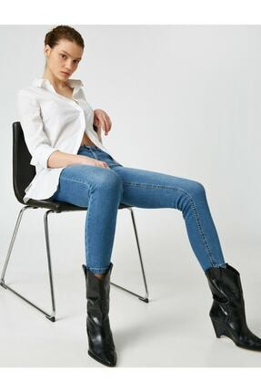 Kadın Mavi Skinny Push Up Jean 1KAK47084MD