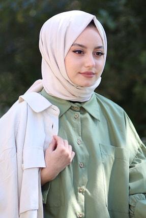 AFVENTE Kadın Bej Cotton Pamuk Şal Ck01 2
