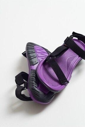 LuviShoes Kadın Mor Tekstil Sandalet S1 2