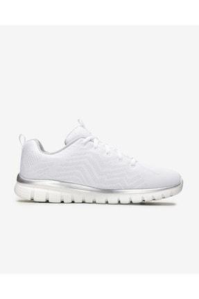 Skechers GRACEFUL-GET CONNECTED Beyaz Kadın Yürüyüş Ayakkabısı 100353423 1