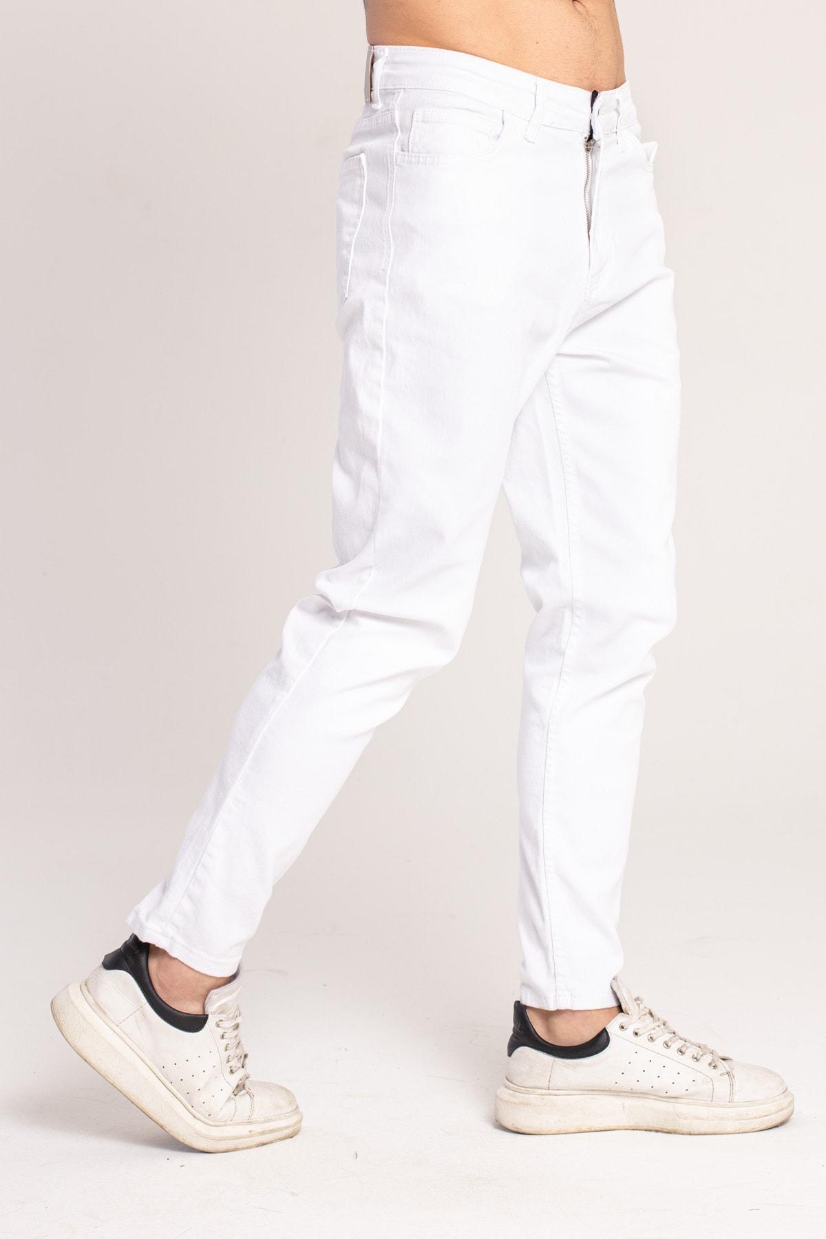 Rahat Kalıp Beyaz Jean 3994-q