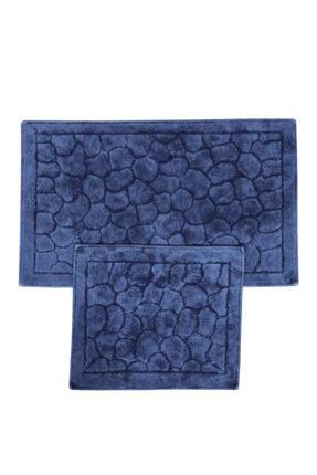 Noble Trade Taş Pamuk 2'li Banyo Paspas Seti 60x100 + 50x60 Cm 1