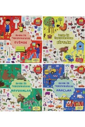 Teleskop Popüler Bilim Benim Ilk Yapıştırmalarım (4 Kitap) - Parıltı Çocuk Setleri 0