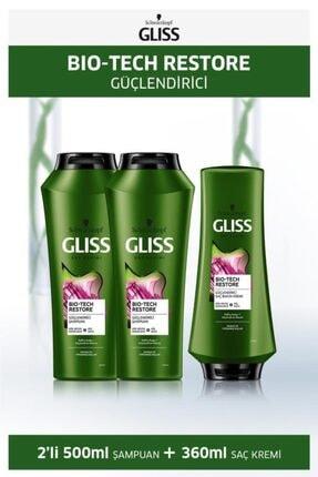Gliss Bio-tech Güçlendirici Şampuan 500 Ml X 2 Adet + Saç Kremi 360 Ml 0