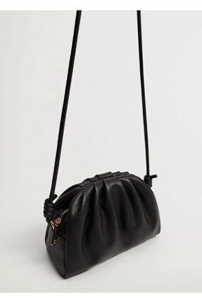 Mango Kadın Siyah Pilili Mini Çanta 3