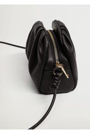 Mango Kadın Siyah Pilili Mini Çanta 4