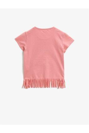 Koton Kız Çocuk Pembe Kısa Kollu Pamuklu T-Shirt 1