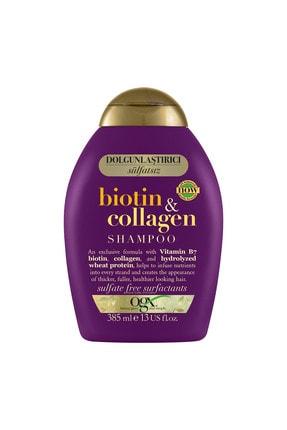 OGX Dolgunlaştırıcı Biotin&Kolajen Sülfatsız Şampuan 385ml + Bakım Kremi 385ml 2