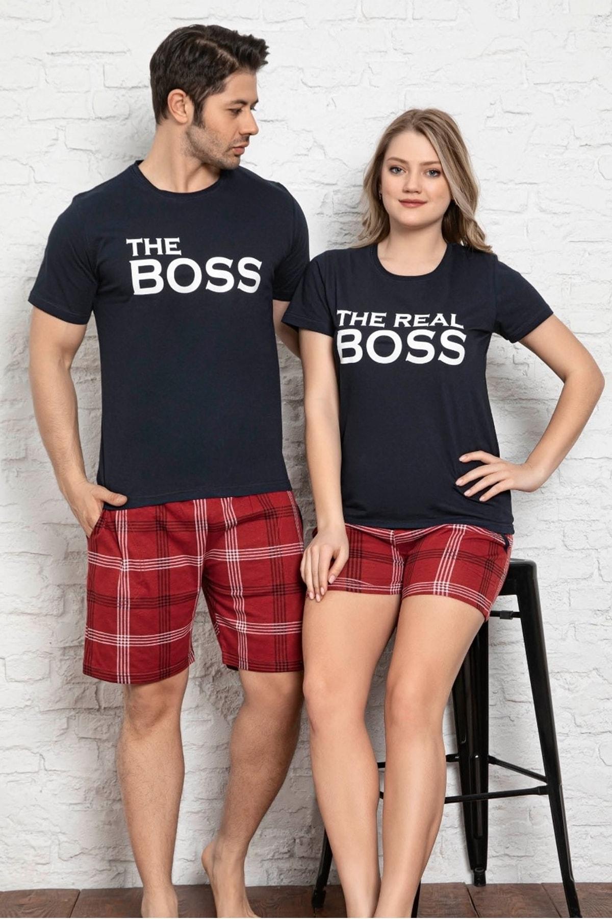 Kadın Baskılı Kısa Kollu T-shirt Ve Şort Pijama Takım 6620-5
