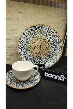 Bonna Alhambra 6 Kişilik Çay Seti Ve Pasta Takımı 1