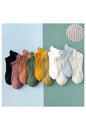 Zirve Unisex Beyaz 10 Çift Koton Patik Çorap 0