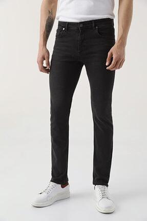 D'S Damat Erkek Siyah  Slim Fit Düz Denim Pantolon 1