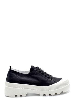 Derimod Kadın Siyah Deri Sneaker 1