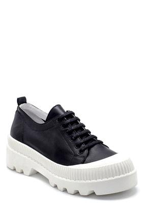Derimod Kadın Siyah Deri Sneaker 2