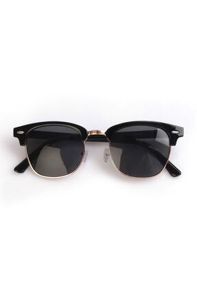 Nilu Moda Unisex Siyah Yuvarlak Güneş Gözlüğü 0