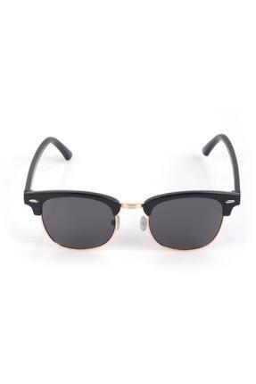 Nilu Moda Unisex Siyah Yuvarlak Güneş Gözlüğü 1