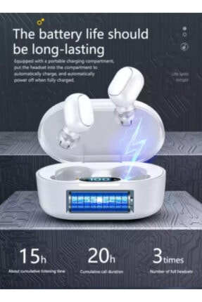 NETAPLUS Bluetooth 5.0 Powerbanklı Super Series Suya Dayanıklı Çift Mikrofonlu-kablosuz-kulaklık 1