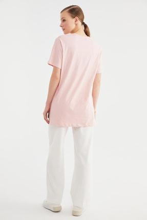Trendyol Modest Pudra Baskılı Örme Tunik T-shirt TCTSS21TN0410 4