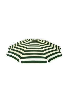 Pineapple Kaliteli Yeşil Çizgili Plaj Şemsiyesi Şezlong Şemsiyesi Havuz Bahçe Şemsiyesi 2 Metre 10 Telli 0
